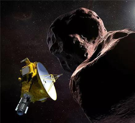 新视野号飞掠海角天涯的伪想图。来源:NASA/JHUAPL/SwRI