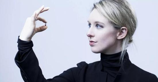 ▲Theranos创始人伊丽莎白·霍尔姆斯曾被誉为女版乔布斯
