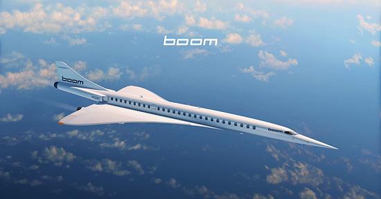 (Boom Supersonic的Overture渲染圖 圖源:Boom)