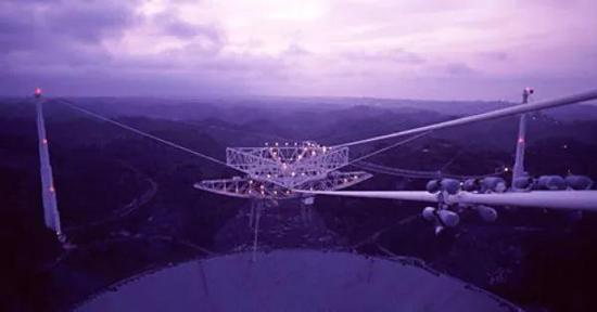 阿雷西博射电望远镜。图片来源:康奈尔大学