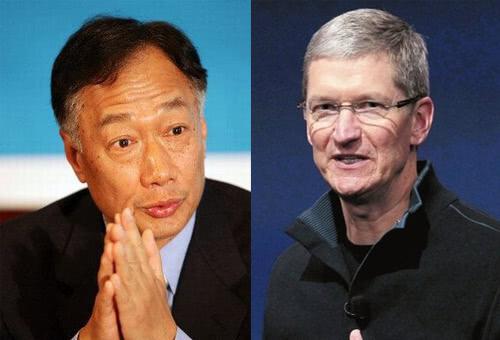 郭台铭(左)和库克(右) 图自推特