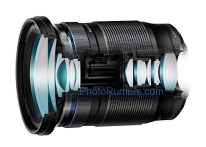 奥林巴斯M.Zuiko Digital ED 12-200mm f/3.5-6.3镜头外观