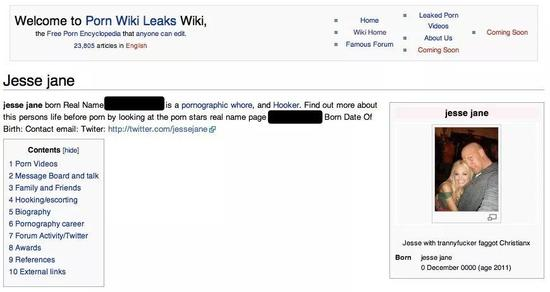 在PornWikiLeaks的页面上,专门有一栏内容写着此人的家庭和朋友