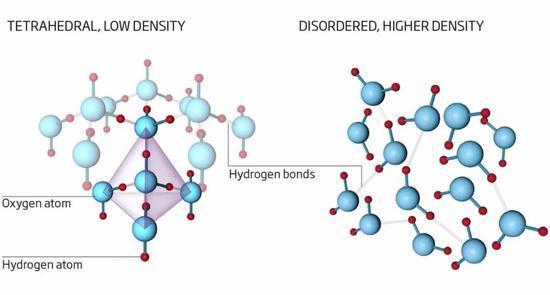 Nilsson以为,水分子能够以两种构造存在。