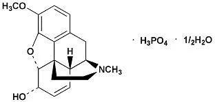 磷酸可待因结构式(图片来源:医脉通官网用药参考)