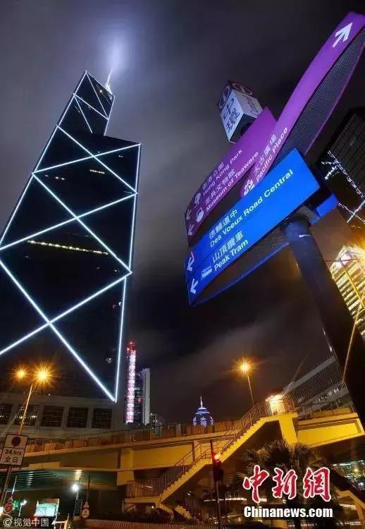 香港中银大厦。(资料图)笑云 摄 图片来源:视觉中国
