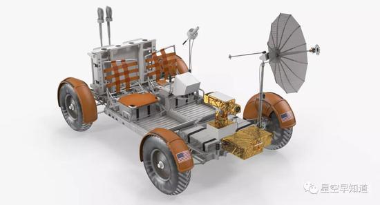 LRV漫游车3D 模型