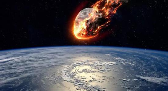 陨石进入大气层后,最先燃烧的是陨石前端空气被压缩最厉害的部分(图片来源:https://sputniknews.com/science/201804291064008986-five-asteroids-heading-past-earth-today/)