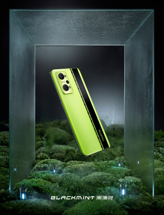 realme GT Neo2纯黑色版曝光,AG 玻璃后盖