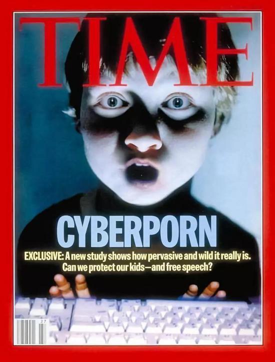 △ 时代杂志直接把cyberporn(网络色情)一词放上了封面