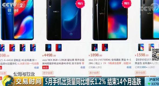 中國手機市場進入寡頭時代 中小廠商動蕩中求生存