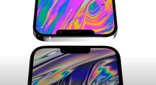 ▲上:iPhone 12 Pro Max,下:新iPhone Pro Max版(均为概念图)