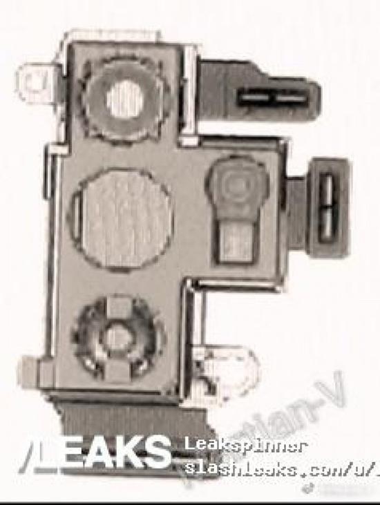 三星Note10摄像头模组设计图(图取自slashleaks)