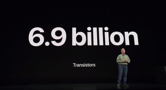 苹果A12拥有69亿个