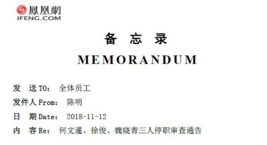 凤凰网反腐邮件曝光 多人侵吞财务及受贿被停职审查