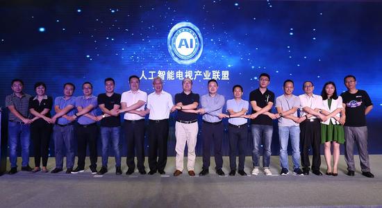 (长虹、TCL、海信、暴风、小米、乐视、微鲸等近20家企业、机构共同组成人工智能电视产业联盟)