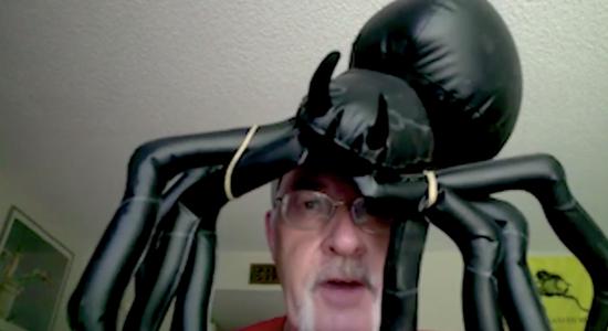 老师长,您头上的蜘蛛要失踪了