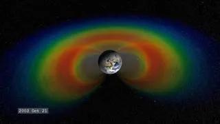 颜色代外埠球周围高能粒子的强度(图片来自网络)