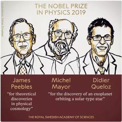 从左往右,第二位和第三位就是这对幸运的师徒啦(图片来源:https://www.nobelprize.org)