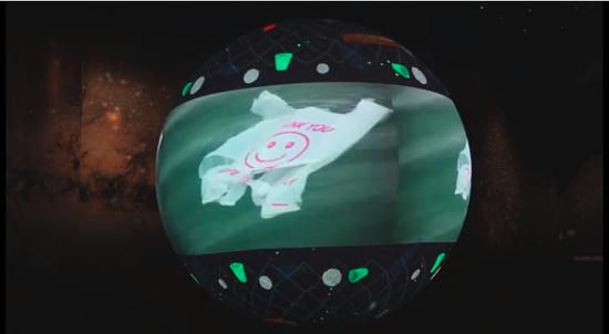 漂浮在海洋上的塑料袋来源|北京科学中央幼球大世界主题展教区