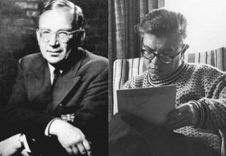 图9 (左)伽莫夫;(右)霍伊尔