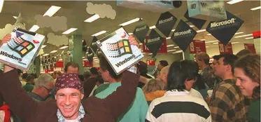 Windows 95掀起彻夜排队购买潮
