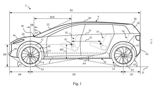 戴森电动汽车长这样?将于下月开始接受测试 专利图正式曝光