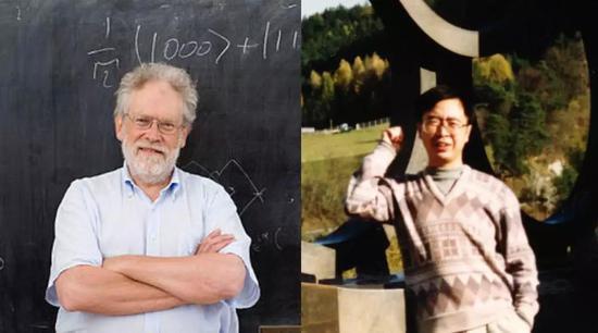 左:Anton Zeilinger 右:潘建伟