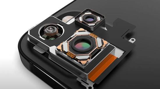 """▲""""iPhone 13 Pro""""中各个摄像头模组概念图"""