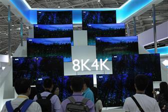2019年8K液晶电视面板出货强劲(照片:Michael Lee,Digitimes)