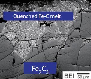 理论上,碳化铁(F7C3)是地球固体内核的潜在组成部分