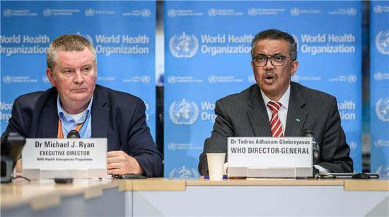 """2020年3月11日,世界卫生组织正式宣布将新冠疫情定义为""""全球大流行病"""""""