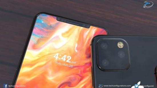 新iPhone XI Max前刘海缩小(图:techconfigurations)