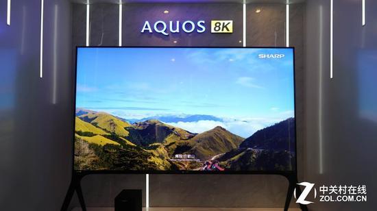 夏普8K产品,单品单推,加持煌彩等技术,主打日系原厂面板