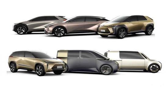 丰田将于全球推出的6款纯电车型
