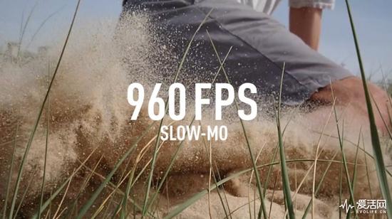 960fps超慢速摄影,是索尼的标志性功能