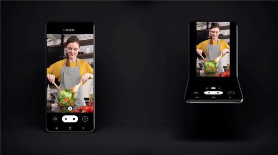 三星新翻盖式可折叠手机