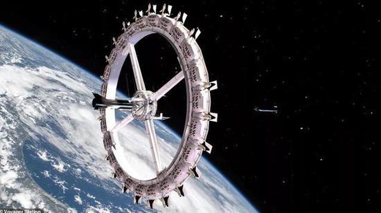 """由美国OAC公司开发的""""旅行者""""空间站最早可在2027年投入运营,其基础设施建设在环绕地球的轨道上"""