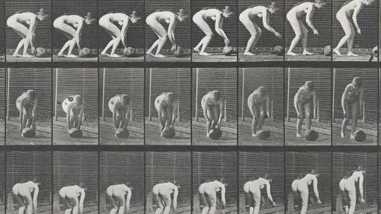 脑损伤后,迈布里奇制作的连续运动摄影作品。图源:Widewalls