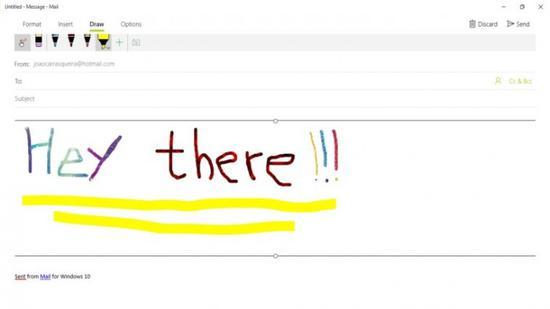 Win10邮件应用程序最终会让用户用手写笔写邮件的照片