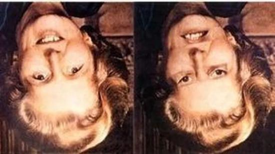 ▲从这个角度看,两张照片差别不大;但倒过来看,就会发现巨大的差异。大脑为什么会做出这种判断?(图片来源:参考资料[2]; Photo courtesy of Doris Tsao)