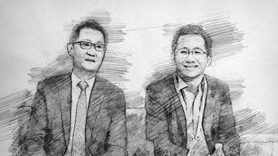 腾讯董事会主席兼CEO马化腾、今日头条创首人张一鸣