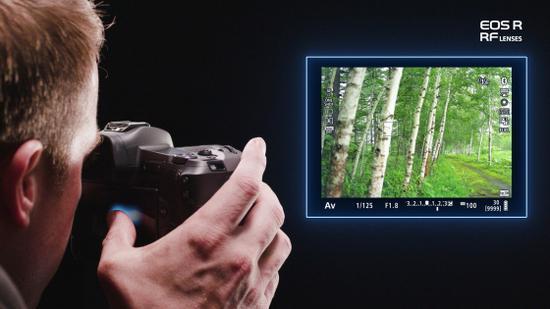 佳能EOS R拖拽对焦功能示意图