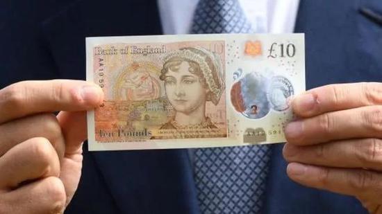 简·奥斯丁是英国纸币中除女王外的唯一女性