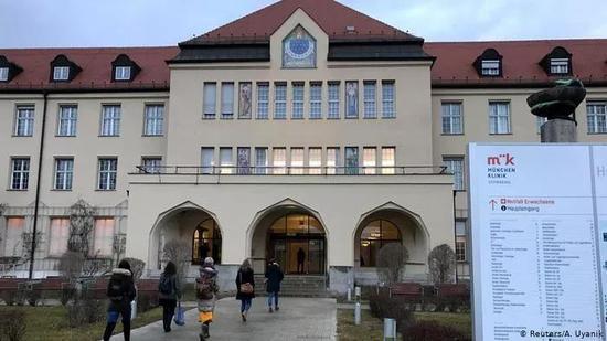 德国新型冠状病毒患者进行隔离治疗的医院(图片来源:Reuters)