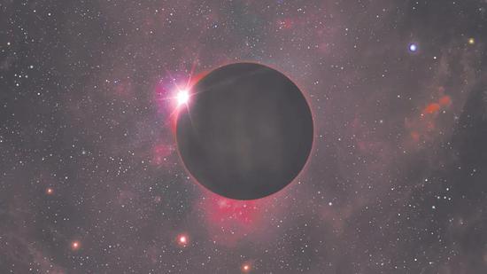 艺术家对黑矮星的印象图