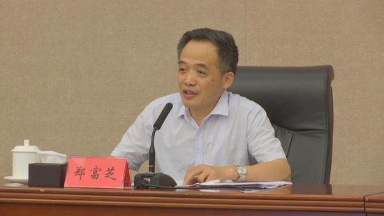 教育部副部长郑富芝讲话。