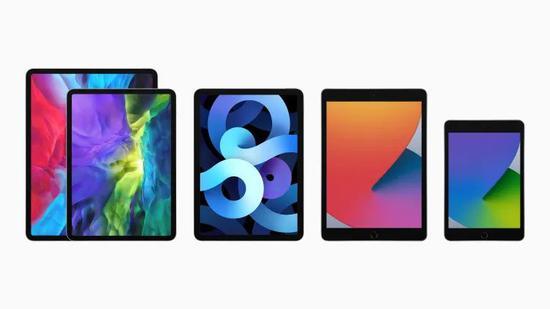 四种 iPad 型号