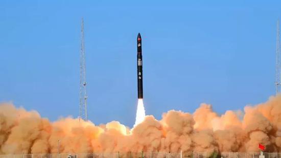"""""""谷神星一号""""火箭发射瞬间图片来源:星河动力"""