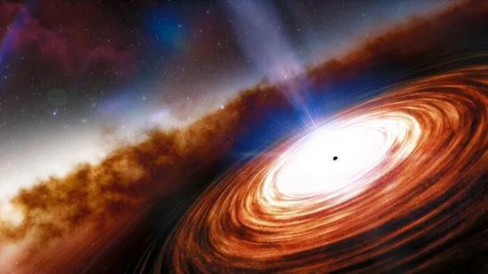 类星体J0313-1806的愿望图 图片来历;NOIRLab/NSF/AURA/J. da Silva